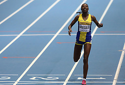 08.03.2014, Ergo Arena, Sopot, POL, IAAF, Leichtathletik Indoor WM, Sopot 2014, im Bild Abeba Aregawi (Sweden) wins 1500 Metres final // Abeba Aregawi (Sweden) wins 1500 Metres final during day two of IAAF World Indoor Championships Sopot 2014 at the Ergo Arena in Sopot, Poland on 2014/03/08. EXPA Pictures © 2014, PhotoCredit: EXPA/ Newspix/ Michal Fludra<br /> <br /> *****ATTENTION - for AUT, SLO, CRO, SRB, BIH, MAZ, TUR, SUI, SWE only*****