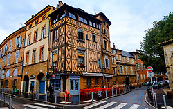 An old building housing a cafe in the Rue Henri de Gorsse, Toulouse, FRance<br /> <br /> (c) Andrew Wilson | Edinburgh Elite media