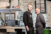 20160506 LES VANS France LIKOKE restaurant van Piet Huysentruyt met zoon Cyriel fils et pere poses for the photographer pict FRANK ABBELOOS