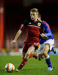 Bristol City U18s Joe Morrell in action during the second half of the match - Photo mandatory by-line: Rogan Thomson/JMP - Tel: Mobile: 07966 386802 - 04/12/2012 - SPORT - FOOTBALL - Ashton Gate Stadium - Bristol. Bristol City U18 v Ipswich Town U18 - FA Youth Cup Third Round Proper.