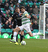 Celtic captain Charlie Mulgrew and Dundee captain Kevin Thomson - Celtic v Dundee, SPFL Premiership at Celtic Park<br /> <br />  - © David Young - www.davidyoungphoto.co.uk - email: davidyoungphoto@gmail.com
