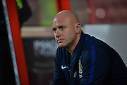 Northampton Town manager, Rob Page  during the EFL Sky Bet League 1 match between Swindon Town and Northampton Town at the County Ground, Swindon, England on 27 September 2016. Photo by Adam Rivers.