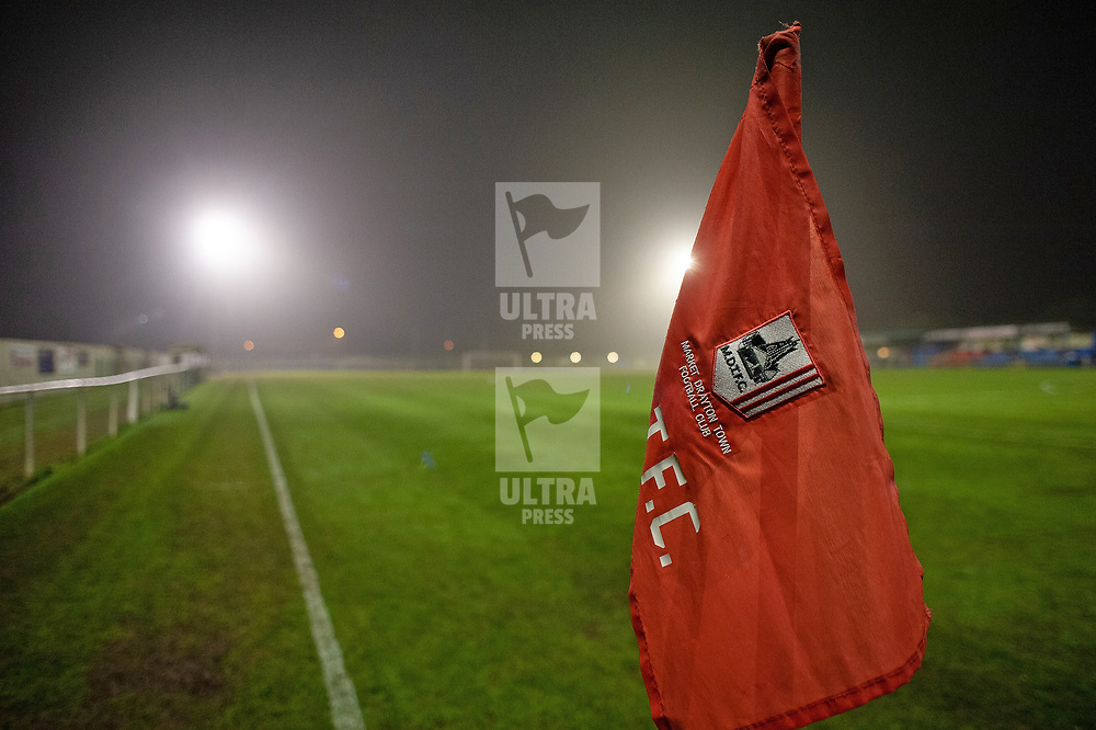 TELFORD COPYRIGHT MIKE SHERIDAN A general view of greenfields during the friendly fixture between AFC Telford United and Market Drayton Town at Greenfields on Tuesday, January 21, 2020.<br /> <br /> Picture credit: Mike Sheridan/Ultrapress<br /> <br /> MS201920-041