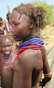Portrait of a Daasanach tribe woman Photographed in the Omo Valley, Ethiopia