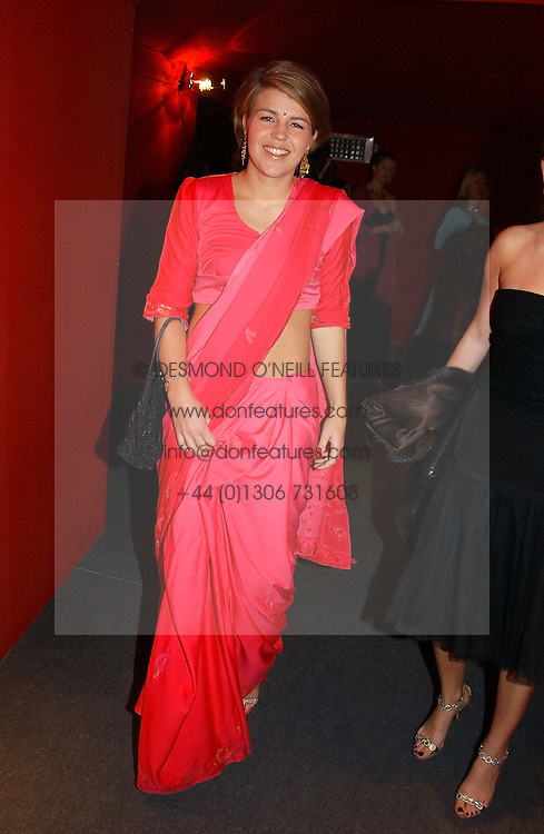 """Social figure MISS AMBER NUTTALL at the 10th annual British Red Cross London Ball.  This years ball theme was Indian based - """"Yaksha - Yakshi: Doorkeepers to the Divine"""" and was held at The Room, Upper Ground, London on 1st December 2004.  Proceeds from the ball will aid vital humanitarian work, including HIV/AIDS projects that the Red Cross supports in the UK and overseas.<br /><br />NON EXCLUSIVE - WORLD RIGHTS"""