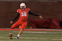 NORMAL, IL - September 08: Sam Fenlason during 107th Mid-America Classic college football game between the ISU (Illinois State University) Redbirds and the Eastern Illinois Panthers on September 08 2018 at Hancock Stadium in Normal, IL. (Photo by Alan Look)