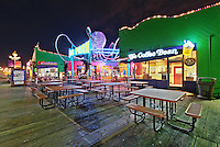 Coffee Bean and Pacific Park | An Evening at Santa Monica Pier, Los Angeles, California, USA