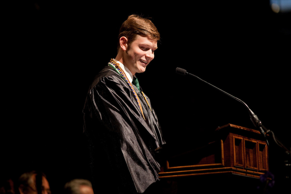 The 2013 Ohio University undergraduate commencement was in the Convocation Center at in Athens, Ohio on Saturday, May 4, 2013. Photo by Chris Franz