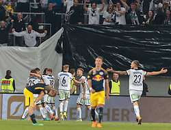 09.05.2018, Woerthersee Stadion, Klagenfurt, AUT, OeFB Uniqa Cup, SK Puntigamer Sturm Graz vs FC Red Bull Salzburg, Finale, im Bild Sturm Graz feiert das 1:0 durch Stefan Hierländer (SK Puntigamer Sturm Graz) // during the final match of the ÖFB Uniqa Cup between SK Puntigamer Sturm Graz and FC Red Bull Salzburg at the Woerthersee Stadion in Klagenfurt, Austria on 2018/05/09. EXPA Pictures © 2018, PhotoCredit: EXPA/ Johann Groder