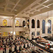 """September 25, 2011 - Manhattan, NY : Harpsichordist Kenneth Weiss performs 'A Cleare Day""""Pieces from the Fitzwilliam Virginal Book' during the season opener for 'Music Before 1800' at Corpus Christi Church on Sunday afternoon. CREDIT: Karsten Moran for The New York Times"""