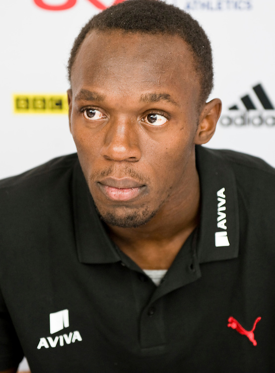 London July 21  Pluri Gold medallist  Usain Bolt in London for the London Grand Prix on Friday...***Standard Licence  Fee's Apply To All Image Use***.Marco Secchi /Xianpix. tel +44 (0) 845 050 6211. e-mail ms@msecchi.com or sales@xianpix.com.www.marcosecchi.com