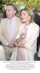 LORD & LADY LLOYD WEBBER at the Chelsea Flower Show, London on 21st May 2001.	OOJ 42