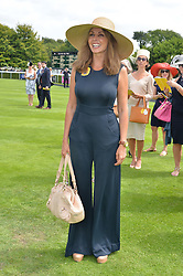 CAROL VORDERMAN at the 2014 Glorious Goodwood Racing Festival at Goodwood racecourse, West Sussex on 31st July 2014.