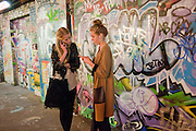 ROSE BALFOUR; FAITH BALFOUR, STEVE LAZARIDES LAUNCHES ÔMINOTAURÕ Ð A LABYRINTHINE EXHIBITION TAKING OVER THE OLD VIC TUNNELS OVER FRIEZE WEEK FROM 11-25 OCTOBER. Waterloo. London. 10 October 2011. <br /> <br />  , -DO NOT ARCHIVE-© Copyright Photograph by Dafydd Jones. 248 Clapham Rd. London SW9 0PZ. Tel 0207 820 0771. www.dafjones.com.<br /> ROSE BALFOUR; FAITH BALFOUR, STEVE LAZARIDES LAUNCHES 'MINOTAUR' – A LABYRINTHINE EXHIBITION TAKING OVER THE OLD VIC TUNNELS OVER FRIEZE WEEK FROM 11-25 OCTOBER. Waterloo. London. 10 October 2011. <br /> <br />  , -DO NOT ARCHIVE-© Copyright Photograph by Dafydd Jones. 248 Clapham Rd. London SW9 0PZ. Tel 0207 820 0771. www.dafjones.com.