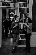 FRANKIE MCCOY; MELISSA TRICOIRE, aThe Walter Scott Prize for Historical Fiction 2015 - The Duke of Buccleuch hosts party to for the shortlist announcement. <br /> The winner is announced at the Borders Book Festival in Scotland in June.John Murray's Historic Rooms, 50 Albemarle Street, London, 24 March 2015.