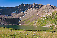 Lake Ann below the Continental Divide in the Sawatch Mountains.  Colorado.