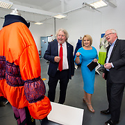 "03.06.2018.        <br /> An In-FLUX of visitors attended LSAD, Limerick School of Art and Design for one of Ireland's largest and most vibrant Graduate Shows.<br /> <br /> Pictured at the event were, Mike Fitzpatrick Dean, Limerick School of Art & Design and Director Cultural Engagement, Chief Executive of the Design & Crafts Council of Ireland, Karen Hennessy who officially opened the Flux Exhibition and Prof. Vincent Cunnane, President, LIT.<br /> <br /> More than 200 Fine Art and Design students' work went on display from June 2 to June 10, 2018 at the LSAD Graduate Show - FLUX.<br /> LSAD has been central to Art, Craft and Design in the Limerick and Midwest region since 1852.<br />  <br /> The concept, branding and overall design of the 2018 LSAD Graduate Show - FLUX – is student led, and begins this Saturday June 2 and runs until June 10, 2018.<br />  <br /> FLUX encapsulates the movement and change from student to graduate. ""The ""X"" in ""FLUX"" represents the students and how they have made their mark in their time at college,"" explains designers Cathy Hogan and Will Harte as they outline the thinking behind the concept.<br />  <br /> FLUX describes the dynamic movement in the Limerick city region as it overcomes significant issues to become a fulcrum of rejuvenation, vibrant culture, strong industry growth and a centre of design.<br />  <br /> LSAD is also in a state of FLUX as it develops its enterprise potential and engagement with stakeholders across industry, public bodies, third level institutions and other partners overseeing a shift towards design, creativity and connectivity that goes far beyond the walls of its main campus on Clare Street. Picture: Alan Place"