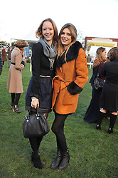Left to right, MOWENA LYTTON-COBBOLD and OLIVIA DUNIN at the 2012 Hennessy Gold Cup at Newbury Racecourse, Berkshire on 1st December 2012