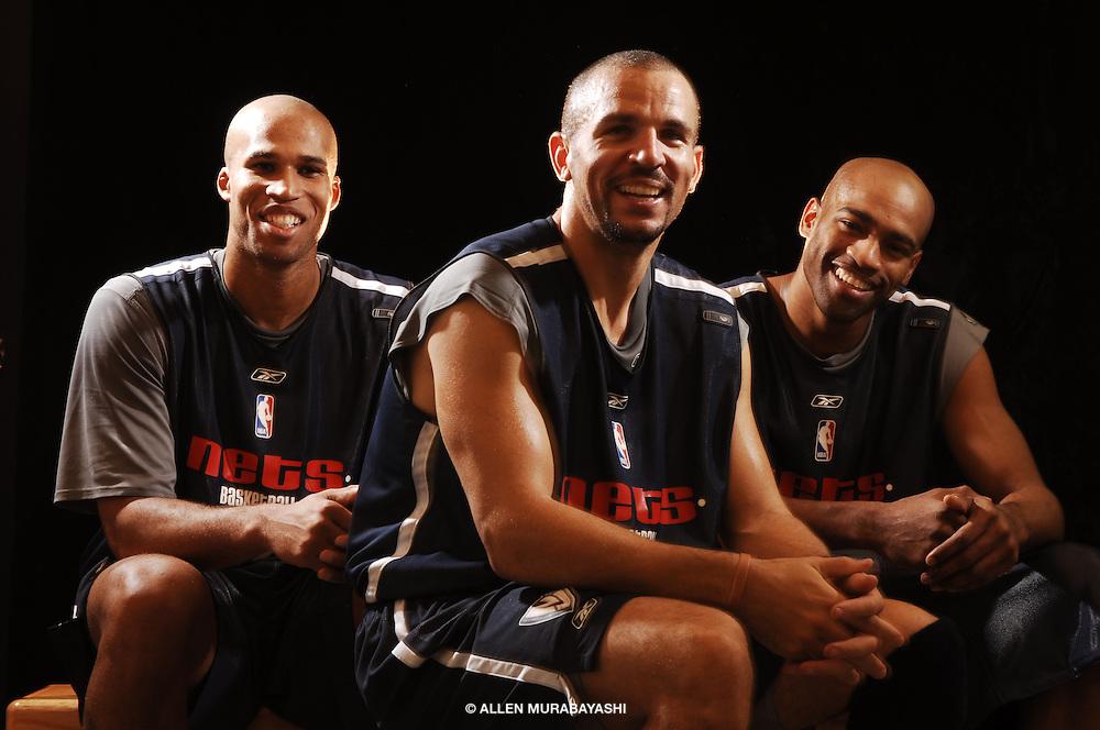 Richard Jefferson, Jason Kidd, and Vince Carter at the start of the 2005-2006 NBA Season