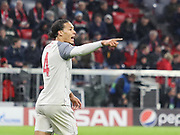 Virgil Van Dijk during the Champions League round of 16, leg 2 of 2 match between Bayern Munich and Liverpool at the Allianz Arena stadium, Munich, Germany on 13 March 2019.