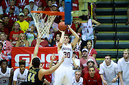 November 23 2015: Indiana Hoosiers guard Collin Hartman shoots a three pointer during the Maui Invitational at  Lahaina Civic Center on Maui, HI. (Photo by Aric Becker)