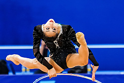September 14, 2018 - Sofia, Bulgaria - Salome Pazhava of Georgia   during  Individual All-Around Final at the Arena Armeec in Sofia at the 36th FIG Rhythmic Gymnastics World Championships  on 14/9/2018. (Credit Image: © Ulrik Pedersen/NurPhoto/ZUMA Press)
