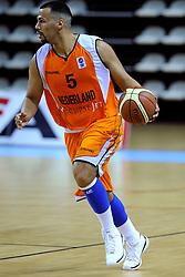 13-09-2008 BASKETBAL: NEDERLAND - IJSLAND: ALMERE<br /> De Nederlandse basketballers hebben hun tweede zege geboekt voor het ek van 2009 in de B-divisie. Oranje versloeg IJsland in almere met 84-68 / Bryan Defares<br /> ©2008-WWW.FOTOHOOGENDOORN.NL