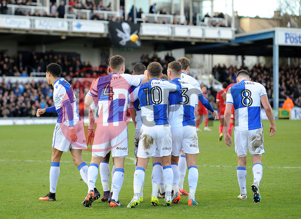 Bristol Rovers celebrate the winning goal from Billy Bodin - Mandatory by-line: Neil Brookman/JMP - 28/01/2017 - FOOTBALL - Memorial Stadium - Bristol, England - Bristol Rovers v Swindon Town - Sky Bet League One