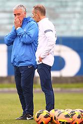 O técnico Didier Deschamps durante treino da seleção da França no Estádio Olímpico, em Porto Alegre (RS), durante a preparação para o amistoso contra o Brasil, que acontece no domingo (09), na Arena do Grêmio. FOTO: Lucas Uebel/Preview