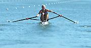 Varese,  ITALY. 2012 FISA European Championships, Lake Varese Regatta Course. ..EST W1X Kaisa PAJUSALU,  at the start for her heat of the Women's Single Sculls...13:14:16  Friday  14/09/2012 .....[Mandatory Credit Peter Spurrier:  Intersport Images]  ..2012 European Rowing Championships Rowing, European,  2012 010795.jpg.....