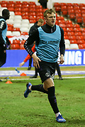 Charlton Athletic midfielder Alfie Doughty warming up during the EFL Sky Bet Championship match between Nottingham Forest and Charlton Athletic at the City Ground, Nottingham, England on 11 February 2020.