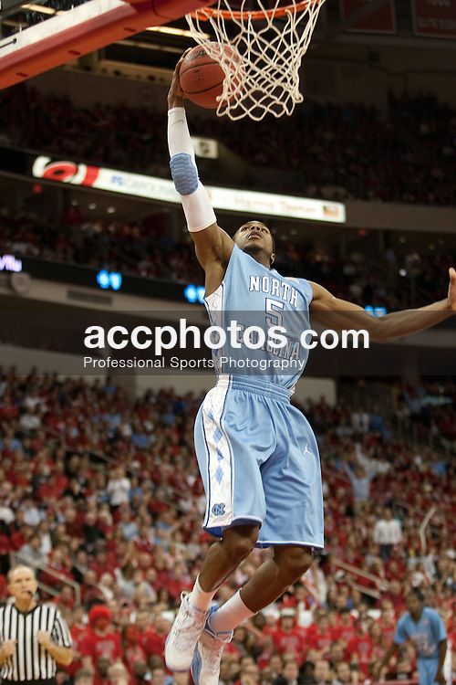 26 January 2010: North Carolina Tar Heels guard Dexter Strickland (5) during a 77-63 win over the North Carolina State Wolfpack at the RBC Center in Raleigh, NC.