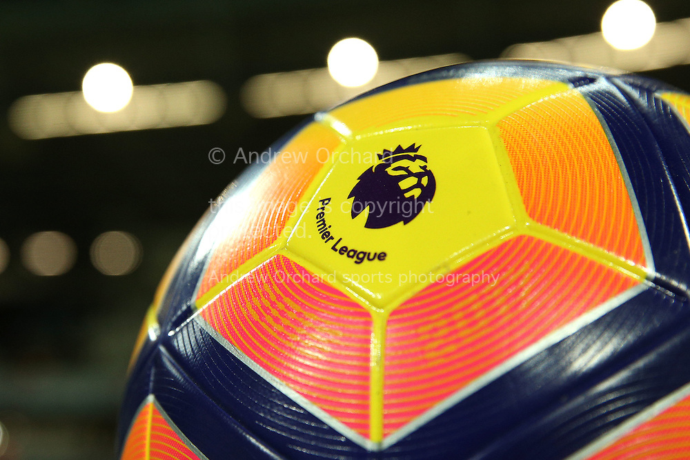 a general view of the Premier League match ball  before k/o. Premier league match, West Ham Utd v Arsenal at the London Stadium, Queen Elizabeth Olympic Park in London on Saturday 3rd December 2016.<br /> pic by John Patrick Fletcher, Andrew Orchard sports photography.