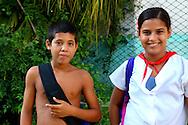 School kids in Guanajay, Artemida, Cuba.