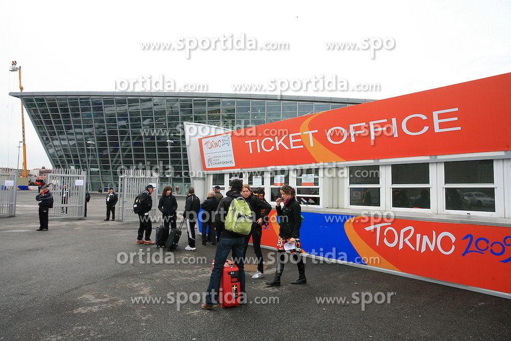 Ticket office at the 1st day of  European Athletics Indoor Championships Torino 2009 (6th - 8th March), at Oval Lingotto Stadium,  Torino, Italy, on March 6, 2009. (Photo by Vid Ponikvar / Sportida)
