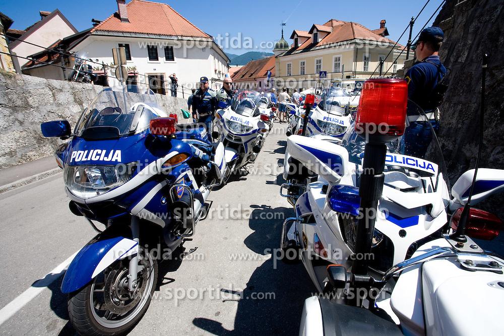 Police at 2nd stage of Tour de Slovenie 2009 from Kamnik to Ljubljana, 146 km, on June 19 2009, Slovenia. (Photo by Vid Ponikvar / Sportida)