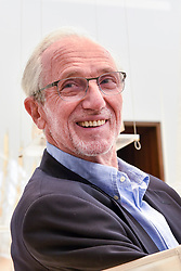 "© Licensed to London News Pictures. 12/09/2018. LONDON, UK. Internationally renowned architect and Honorary Royal Academician Renzo Piano at a preview of ""Renzo Piano: The Art of Making Buildings"", an exhibition comprising 16 of his most significant projects.  The exhibition runs 15 September to 20 January 2019 at the Royal Academy of Arts in Piccadilly.  Photo credit: Stephen Chung/LNP"
