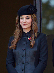 Duchess of Cambridge during the annual Remembrance Sunday Service at the Cenotaph, Whitehall, London, England. Sunday, 10th November 2013. Picture by Nils Jorgensen / i-Images
