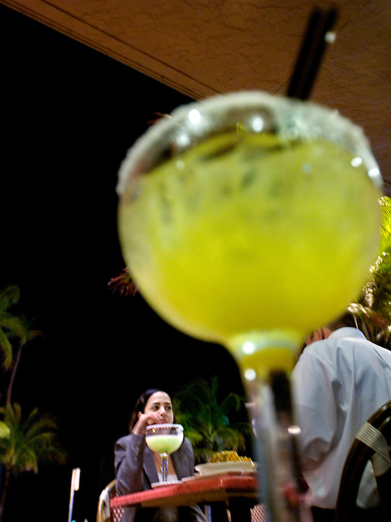 Travel story about Fort Lauderdale, Florida.Giant margaritas at a beachside bar at night...Photographer: Chris Maluszynski /MOMENT