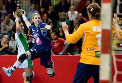 Tamara Mavsar of Slovenia at Women European Championships Qualifying handball match between National Teams of Slovenia and Belarus, on October 17, 2009, in Kodeljevo, Ljubljana.  (Photo by Vid Ponikvar / Sportida)