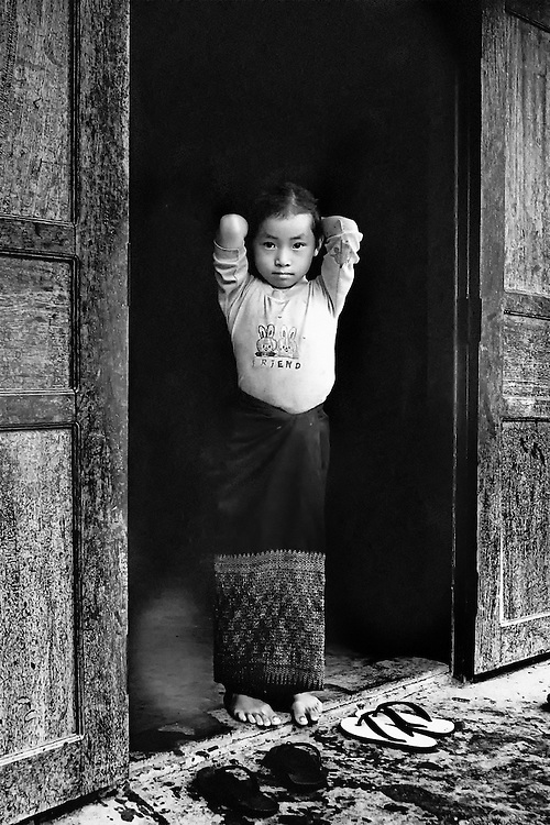 A girl at home in Luang Prabang, Laos.