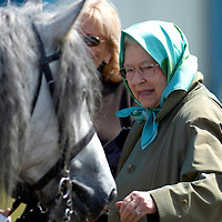England, Windsor Great Park,  HRH Queen Elizabeth during the New Forest pony presentation where one of her horses a Grey mare called Balmoral Melody won the Overall Supreme Championship today