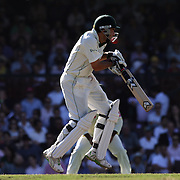 South African batsman Neil McKenzie is hit by a delivery during day four of the third test match between Australia and South Africa at the Sydney Cricket Ground on January 6, 2009 in Sydney, Australia. Photo Tim Clayton