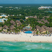 Aerial view of the Allegro Playacar on Playa del Carmen. Mexico