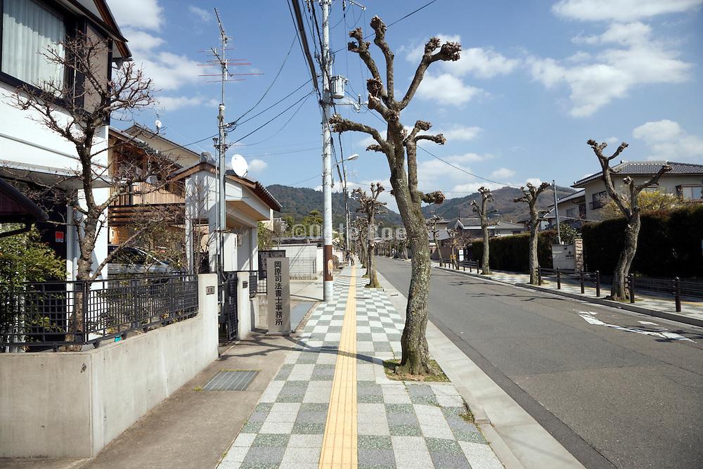 Nara, Japan a modern neighborhood