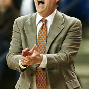 Towson Head Coach Joe Mathews attempts to get his teams attention teammate in first half. Delaware defeated Towson 75-57 Wednesday at The Bob Carpenter Center In Newark Delaware...Special to The News Journal/SAQUAN STIMPSON