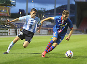 Graeme Shinnie is chased by Dundee's Paul McGinn - Inverness Caledonian Thistle v Dundee, SPFL Premiership at Tulloch Caledonian Stadium<br /> <br />  - &copy; David Young - www.davidyoungphoto.co.uk - email: davidyoungphoto@gmail.com