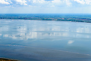 Nederland, Friesland, Ameland, 05-08-2014; Waddenzee met hoog water, gezien vanaf Ameland, Friese kust aan de horizon<br /> Wadden Sea seen from Wadden island Ameland.<br /> <br /> luchtfoto (toeslag op standard tarieven);<br /> aerial photo (additional fee required);<br /> copyright foto/photo Siebe Swart