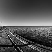 Seascape in Busselton Jetty, Australia.