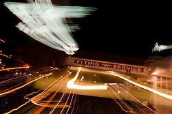 """""""The Flying A, Truckee"""" - This old service station is located in Downtown Truckee, CA. The effect was achieved by zooming the lens during a long exposure."""